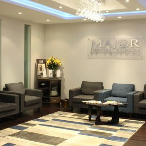Spacious and comfortable waiting area at Major Dental Clinics find out who we are